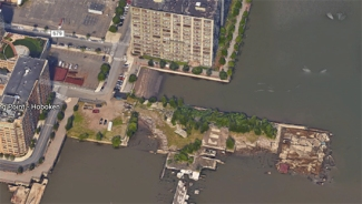 Bird's Eye View Taken from Google Earth of the Pier